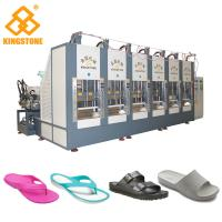 Quality EVA Slipper Making Shoe Sole Making Machine With Full Production Line / 6 Stations for sale