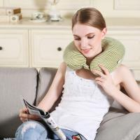 Air Filling Travel Memory Foam Neck Pillow Comfort With Adjustable Buckle Manufactures