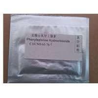Phenylephrine Hydrochloride Raw Material Powder CAS 61-76-7 Decongestant / Mydriatic Manufactures