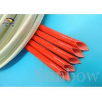 silicone fibre glass sleeves Silicone fiberglass sleeving for wire harness insulation Manufactures