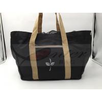 Black 420D Polyester Reusable Folding Shopping Bags For Supermarket Shopping Manufactures