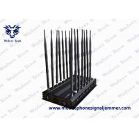 Adjustable 14 Antennas Powerful 3G 4G Phone Blocker WiFi UHF VHF GPS Lojack Remote Control All Bands Signal Jammer Manufactures