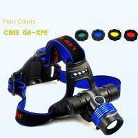 18650 Rechargeable Zoomable 3 Gears CREE Q5/ T6-L2 High Brightness Headlamp/Head Light Manufactures