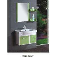 80 X48/cm PVC bathroom cabinet/  wall cabinet /white color with mirror for bathroom Manufactures