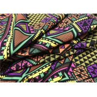 Quality Wefting Knit Super Stretch Recycled Lycra Fabric / Geometric Pattern Superior Luxe Fabric for sale