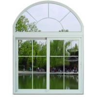 Soundproof White / Blue Sliding Aluminum Frame Windows With ROTO / SIEGENIA Hardware