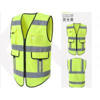 Buy cheap Reflective Safety Vest , Anti Static Vest Yellow Polyester Mesh Material from wholesalers