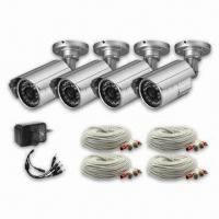 4 Packs Waterproof CCTV Camera Kit with Outdoor IR Color CMOS/CCD Camera, with all Accessories Manufactures