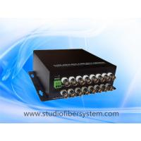 Mini 16CH AHD fiber converter with wall mounted aluminum case,compact desigend for CCTV system Manufactures