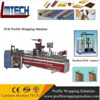 China Timber trim moulding wrapping laminating machine on sale