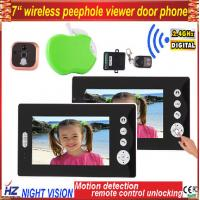 """China Wireless color 7"""" LCD Digital Security Door Viewer Peephole/Spyhole Camera/video door phone intercom systems on sale"""