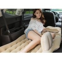 One Piece Inflatable Car Bed PVC / Flocking Material 135 * 85 * 45CM Manufactures