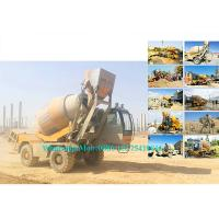 Rotating Drum Concrete Cement Mixer Machine Self Loading Mobile Type 2.0M3 Output Manufactures