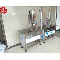 Semi Automatic Aerosol Can Filling Machine For Anti Rust Spray / Mould Release Spray Manufactures