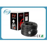 Copper Black Cat5e Lan Cable , 1000 Feet FTP Ethernet Cable Al - Foil Shielded