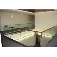 Modern design aluminum u base channel glass railing for stairwell/ decking use Manufactures
