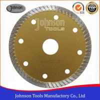 Tile Cutting Tools 105mm Sintered Turbo Saw Blade for Ceramic / Tiles Hot Press Manufactures