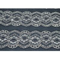 Nylon / Cotton / Spandex Elastic Lace Fabric Anti-Static AZO Free CY-DK0009 Manufactures