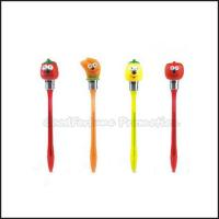 Quality Hot Sale Cheap Promotional printed logo led light cartoon fruit ballpoint pen gift for sale