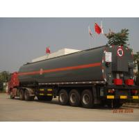 40000L Hot Asphalt Transport Tanker Round Shape Three Axle Semitrailer Manufactures