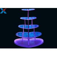 China Heart Shape Perspex Display Stand  , 5 Layers Champagne Acrylic Display Shelves on sale