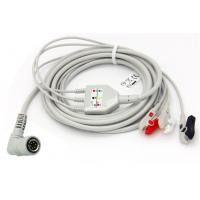 China Colin BP-S510 3 Lead ECG Cable One Piece Series Snap End 6 Pin AHA BP88 / BP306 / BP885 on sale