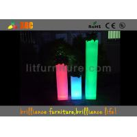 China Light Flower Pots Large LED Planter Infrared Remote Control For Indoor / Outdoor on sale