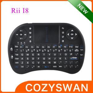 China Portable Elegant Mini I8 2.4Ghz Wireless 92 Key Qwerty Keyboard with touchpad on sale