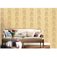 American Country Style Deep Embossed Wallpaper Durable 1.06*15.6m Roll Size Manufactures