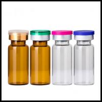 10ml Vials Empty Glass Cosmetic Bottles Rubber Stopper Sterile Serum Container Manufactures