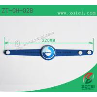 RFID Soft PVC wristband tag (Snap Fastener, Product Type: ZT-CH-028) Manufactures
