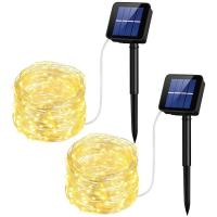 10M Solar Led String Lights Solar Powered Rope Lights 1 Year Warranty Manufactures