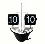 Mute Standing Floor Clock Ship Shape , Pvc Quartz Movement For Gift Manufactures