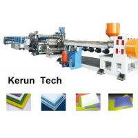 Plastics Extrusion Machinery / PVC Foam Board Making Machine for Faux Marble Manufactures