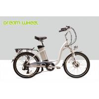 "250W Electric City Bike / 24"" Ladies Cruiser Bikes With Shimano Derailleur Manufactures"