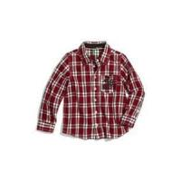 China Long Sleeve fashion 100% Cotton kids Flannel casual plaid shirt, kids checkered shirts on sale