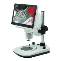 LED Light Source DC12V Digital LCD Microscope Pole Stand 200*255*60mm Size Manufactures