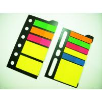 Yellow Folded PET Sticky Note Pads , Desktop Sticky Notes With Durable Self-adhesive Tabs Manufactures