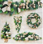 Christmas decorations rattan linen series,Christmas garland, Christmas hanging rattan, desktop small Christmas tree Manufactures
