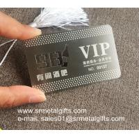 Etching steel VIP member cards, Custom photo etching metal name cards Manufactures