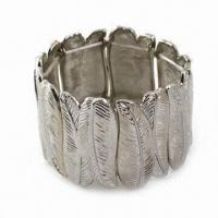 Eco-friendly Alloy Bangle with Unique Anti-silver Color, Exquisite, Elegant and Noblest Designs Manufactures