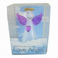 China Glass Angel, Available in Various Designs  on sale