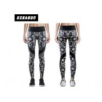 Sublimation Printed Women'S Fitness LeggingsNo Fade Quick Drying For Adult Manufactures