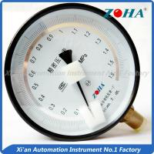 China Aluminum Case Dial Air Pressure Gauge , Flanged Vacuum Pressure Gauge on sale
