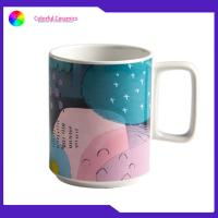 China Stoneware Printed Promotional Ceramic Travel Mug Tea Cups 420ML EEC Approval on sale