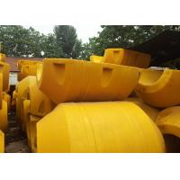 China MDPE Dredger Floaters Yelloe Color Totally Enclosed Durable Reliable Various Diameter on sale