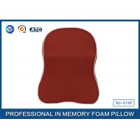Red Memory Foam Car Neck Pillow With Binding , Good For Neck Head Supporting Manufactures