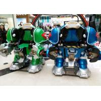 Walking Robot Shape Kiddie Bumper Cars Customized Color For Shopping Mall Manufactures