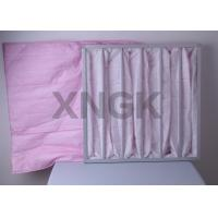 China Commercial Air Handler Air Filters , Hvac Bag Filters For Painting Factory Hospital Sterile Room on sale