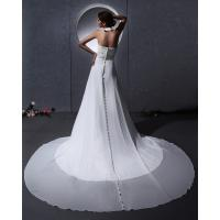 Elegant around the neck Chiffon Wedding Dresses with open back / cathedral train
